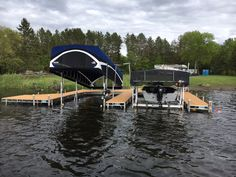 Maxis 2 Canopy With the push of a button the MAXIS canopy raises or lowers for easy access and entry for boats with towers and bimini tops. & FLOE Boat Lifts u0026 Docks | Docks and Boat LIfts | Pinterest | Boat lift