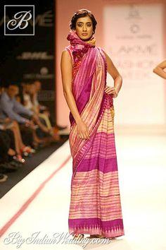 Krishna Mehta sarees with Manipuri print