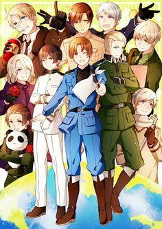 Hetalia Italy Japan Germany China France Russia England America