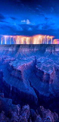 Lightning at Grand Canyon, Arizona, USA #Lightning
