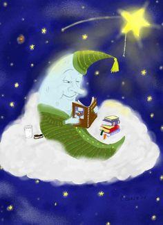 "Good Night!   (no words - ""Whimsical Moon"")"