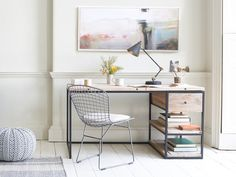 The Den is a seriously clever desk, the gunmetal frame paired with the reclaimed timber makes this the bees knees. All our ace desks are available online.