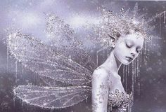 A lovely fantasy picture of a glittering frost fairy