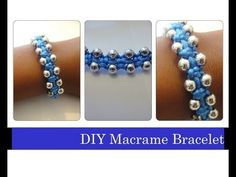 DIY Macrame Bracelet / Beaded Stackable Bracelets Arm Candy - http://videos.silverjewelry.be/bracelets/diy-macrame-bracelet-beaded-stackable-bracelets-arm-candy/