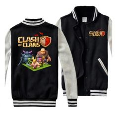 Clash of Clans mens sweatshirts plus size fleece baseball jackets