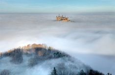 Hohenzollern Castle, Germany.....This ancestral home to a line of German emperors would fit in with the fantastical fortresses imagined by J.R.R. Tolkien and George R.R. Martin. At 2,805 feet above sea level, Hohenzollern Castle really is a castle in the clouds. The current fortress is actually the third to be built on the site the first was destroyed in battle and the second fell into disrepair