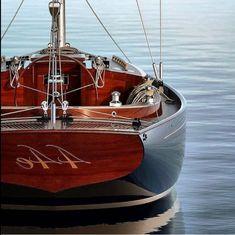 Classic Sailing, Classic Yachts, Sailing Rope, Sailing Ships, Sailing Yachts, Yacht Design, Boat Design, Classic Wooden Boats, Boat Art