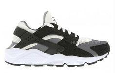 379f3eb9369809 2015 Nike Air Huarache Mens Running Shoes Black White Gray Online Sneakers