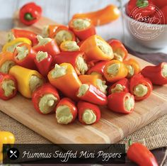 Mini peppers make the cutest little stuffing vessels (and we all know cute food tastes better) and whipping up some homemade hummus couldn't be easier.