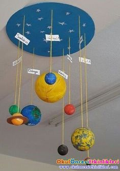 DIY solar system crafts, activities and decorations encourage your kids to delve into the depths of the solar system using the vast-varied ideas and inspirations on solar system project ideas given below. Space Projects, Space Crafts, Science Projects, School Projects, Kid Science, Science Room, Space Activities, Preschool Activities, Sistema Solar Diy