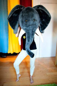 a giant elephant head!