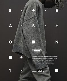 Adidas Originals x Kanye West YEEZY SEASON 1 on Behance / print design + typography + black + white Poster Design, Graphic Design Posters, Graphic Design Typography, Japanese Typography, Typography Layout, Typography Poster, Typography Images, Best Website Design, Website Designs