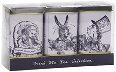 Whittard of Chelsea Drink Me Tea Selection Whittard Of Chelsea, Alice Tea Party, English Breakfast Tea, Mad Hatter Party, Tea Tins, Drink Me, My Tea, Drinking Tea, The Selection