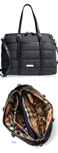 Burberry ● Quilted Diaper Bag