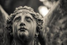 weeping angel statue, Spring Grove Cemetery and Arboretum in Cincinnati Crying Angel, Grave Monuments, Crying Eyes, Artist Workshop, Cemetery Art, Black Angels, Angel Statues, Don't Blink, Dark Photography