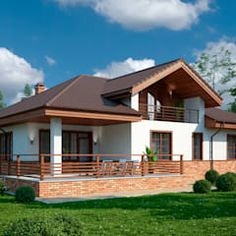 Scandinavian style houses by vesco construction scandinavian Village House Design, Village Houses, Style At Home, Bungalow House Plans, Construction, Exterior Remodel, House Elevation, Mediterranean Homes, Scandinavian Home