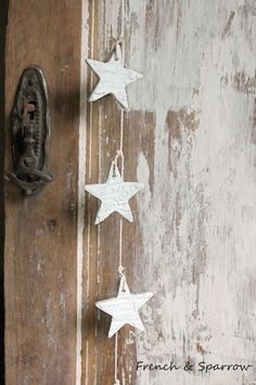 clay garland petite script stars - very french & cute for christmas
