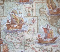 Old world map wallpaper  1970s by ladybakelite on Etsy