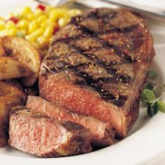 I can just taste these now - grilling outside! Omaha Steaks and Boneless Strip Steaks - two great combos!