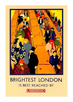 London Travel Poster Underground Tube 2 13x19 by customthings, $15.00