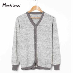 >> Click to Buy << Markless New Casual Men Cardigan Sweaters Men's Thin Wool Knitting Clothing V-neck Full Length Sleeve Cardigans #Affiliate