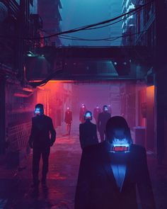 MOVE FORWARD, cyberpunk near-future where sci-fi becomes our reality as various HUDs become common place. By graphic artist Beeple (Mike Winkelmann) Cyberpunk City, Cyberpunk Kunst, Cyberpunk Aesthetic, Futuristic City, Neon Aesthetic, Vaporwave, Science Fiction, Space Opera, Neon Noir
