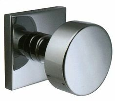 Emtek Selector Round Knob Modern Rectangular Rosette Shown in