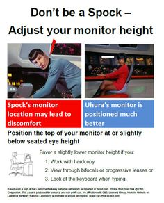 Star trek teaches us about ergonomics. Naughty Librarian, Safety Posters, Monty Python, Star Trek Tos, Spock, Totally Awesome, Legend Of Korra, Guerrilla, Avatar The Last Airbender