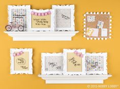 To make this trendy-looking calendar, put sheets of decorative paper in coordinating frames and label each one with the days of the week. Then, just use dry-erase markers to keep track of your activities each day.