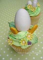 Unhatched egg..cupcake.before it becomes a chicken     old