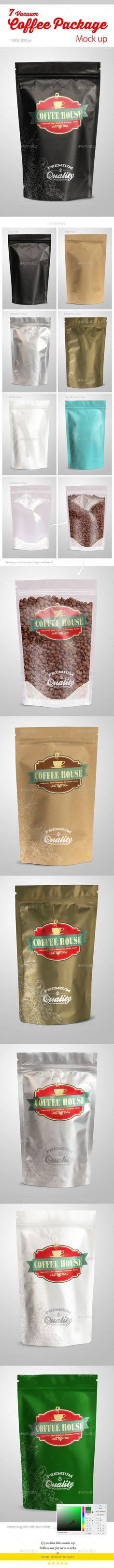 Coffee Vacuum Package Mock-up   Buy and Download: http://graphicriver.net/item/coffee-vacuum-package-mockup/9848938?ref=ksioks