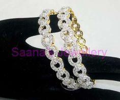 2.8 American Diamond Glimmer Bangles