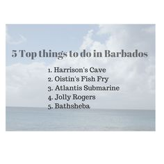 5 Top things to do in Barbados