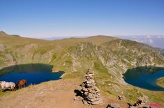 Sixth Lake Okoto (Eye) - 2440 m & Fifth Lake Babreka (Kidney) - 2282 m of the Seven Rila Lakes/Bulgaria