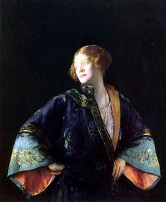 The Blue Mandarin Coat (1922) - Joseph Rodefer DeCamp (1858 - 1923)