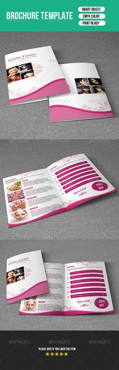 Trifold Brochure-Beauty Salon  #corporate #template #beauty salon • Click here to download ! http://graphicriver.net/item/trifold-brochurebeauty-salon/7362333?ref=pxcr