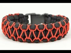 """How to make """"Switched bar"""" paracord bracelet with buckle - YouTube"""