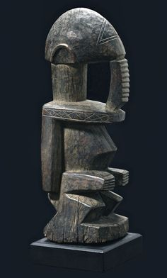 Antique Wooden Geometric Sculptor African Art Dogon Ancestor Figure - http://www.busaccagallery.com/catalog.php?catid=171&itemid=6406&page=1