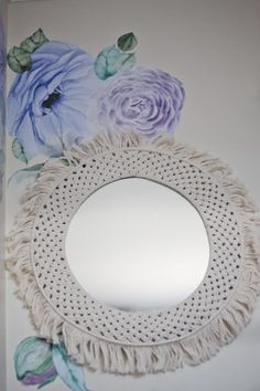 An absolute statement piece to add to just about any room in the home with a bohemian yet contemporary style it adds warmth size and character to your home. Macrame Mirror, Contemporary Style, Mirrors, Tropical, Sparkle, Room Decor, Range, Paper Flowers, Cookers