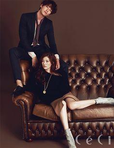 Kim Young-kwang & Jung So-min // CeCi Korea Jung So Min, Couple Posing, Couple Shoot, Korean Celebrities, Korean Actors, Kim Young Kwang, Korean Couple Photoshoot, Korean Wedding, Fashion Couple