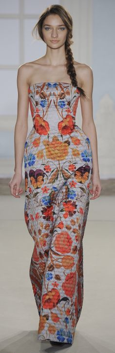 Temperley London Ready To Wear Autumn 2014. Quilted print, outstanding.