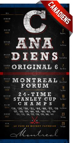 Montreal Canadiens  Center Ice Series  Free by RetroLeague on Etsy, $29.50