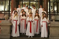 Lucia is not just about the historical figure from Sicily but rather a symbol of light and comfort. Bridesmaid Dresses, Wedding Dresses, Saints, Celebrities, Christmas, Fashion, Bridesmade Dresses, Bride Dresses, Xmas