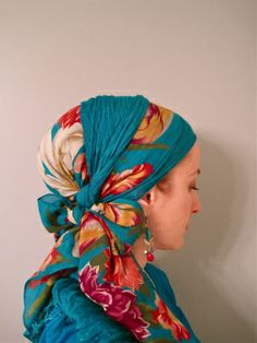 wrapunzel - gorgeous ways to cover your hair! I love this style. Turbans, Perm, Turban Style, Hair Style, Hair Cover, Islamic Fashion, My Hairstyle, Bad Hair Day, Headgear