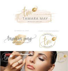 Makeup Logo Design Lips Logo Design Rose gold Branding kit