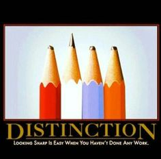 Distinction.