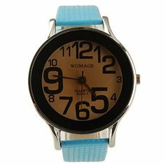 Tanboo Preppy Style PU Leather Band Big Dial Quartz Men Women Wrist Watch - Light Blue by Tanboo. $11.99. Fashionable Watches, Sport Watches Feature Water Resistant. Wrist Watches. Movement:QuartzDisplay:AnalogStyle:Wrist WatchesType:Fashionable Watches, Sport WatchesFeature:Water ResistantBand Material:PUBand Color:BlueCase Diameter Approx (cm):4.2Case Thickness Approx (cm):1Band Length Approx (cm):24.5Band Width Approx (cm):1.8