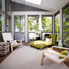 Wintergarten Gestaltung Einrichtung Holz Pergola Kletterpflanzen ... Einrichtungsideen Wintergarten Veranda
