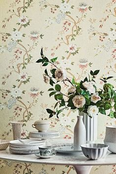 Lovey floral Camellia wallpaper design by Cole & Sons.