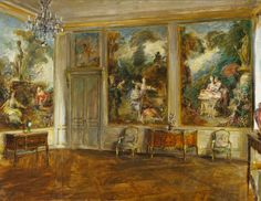The Fragonard Room, Walter Gay, 1926, Frick Art & Historical Center. This room is at the Frick in NYC so you can still visit it today.